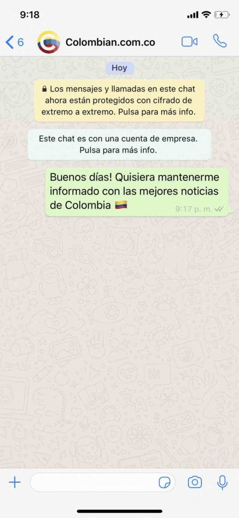 Colombian WhatsApp noticias